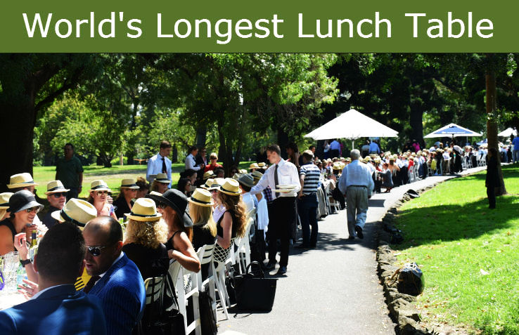 Tuck Into The World's Longest Lunch At Melbourne