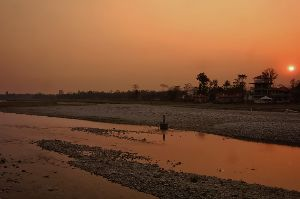 Sunset At Murti River
