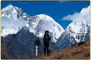 Trekking In the Himalayas.