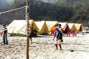 Beach Volleyball At Rishikesh