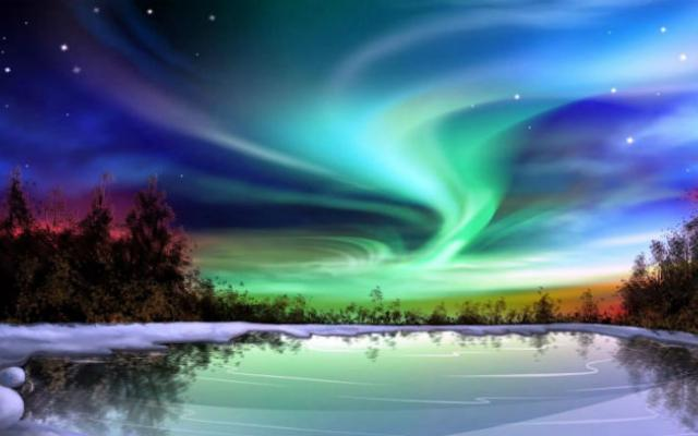 Charming Northern Lights Finland Design Ideas